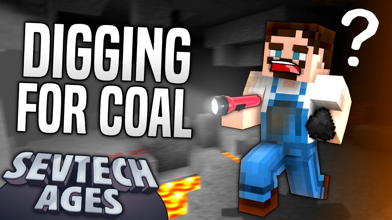 Minecraft - DIGGING FOR COAL - SevTech Ages #23