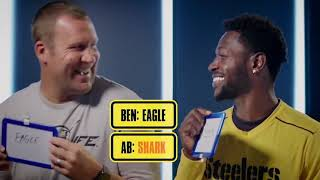 Ben Roethlisberger and Antonio Brown play the Newly Wed Game