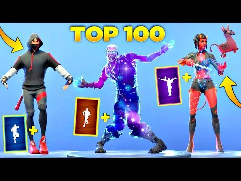 TOP 100 FORTNITE DANCES LOOKS BETTER WITH THESE SKINS! (Fortnite Battle Royale)
