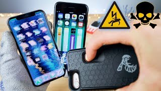Tasing an iPhone X With an iPhone 8 Taser Case