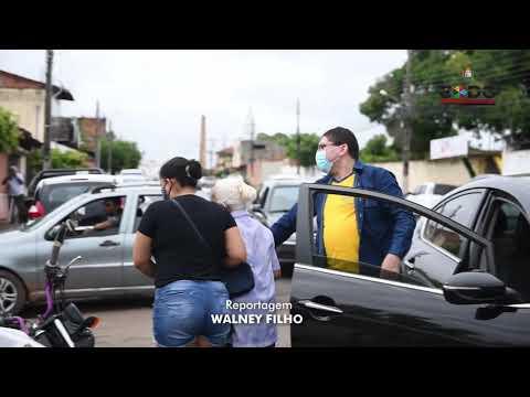 IDOSOS  COM  80 ANOS OU MAIS  SÃO VACINADOS  CONTRA  A COVID-19 NO MUNICÍPIO  DE  CODÓ