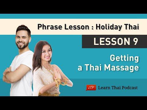 Holiday Thai Language Lesson 9: Thai Massage