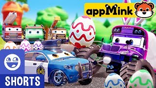 #appMink Easter Egg Hunting f.t Evil Bus | Police Car Chase Kids Videos