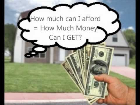 How much Home Can I Afford or How Much Mortgage Will Somebody Lend Me?