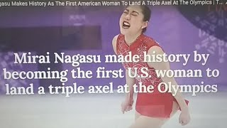 Mirai Nagasu Made History By Becoming The First U.S. Woman To Land A Triple Axel At The Olympics