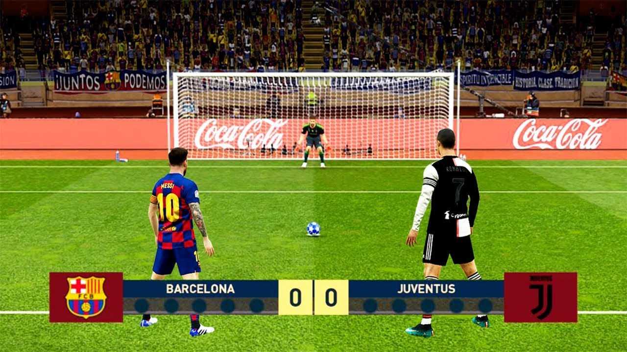 ⚽ RONALDO (Left Footed) 🆚 MESSI (Right Footed) / Penalty Shootout / PES  2019