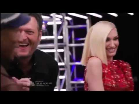 Gwen and Blake - Funny and Sweet Moments Part 1 - The Voice
