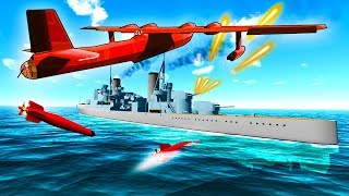 Incredible Flying Boats Torpedo Strike Battleships on this Massive New Map in Ravenfield!
