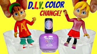 D.I.Y. ALVINNN!!! and the Chipmunks Color Change Nail Polish