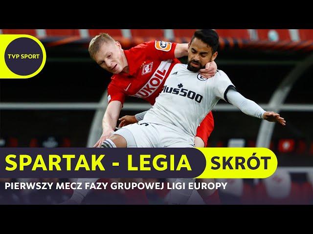 SPARTAK 0-1 LEGIA [VIDEO SKRÓT MECZU]