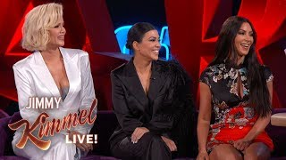 Jimmy Kimmel Interviews Kim, Kourtney & Khloé Kardashian in Las Vegas