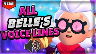 ALL BELLE'S VOICE LINES! | Brawl stars Belle Voice #GoldarmGang