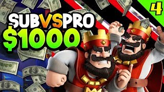 My SUBS vs PRO for $1,000 CASH!?! CAN THEY WIN?