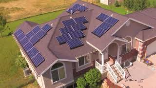 /solar panels on our house one year in