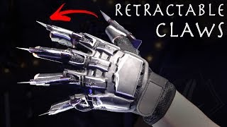 How To Make RETRACTABLE BLACK PANTHER CLAWS! - $15 Build!!!