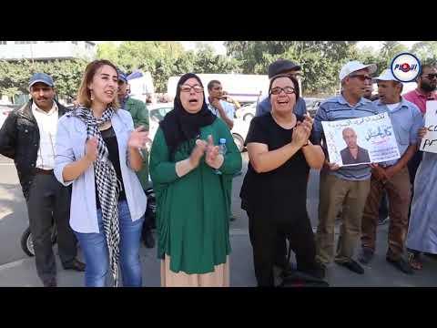 إحتجاجات عائلات معتقلي حراك الريف أمام محكمة الببيضاء