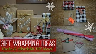 DIY GIFT WRAPPING IDEAS + SIMPLE HACKS // AFFORDABLE + PERSONALIZED GIFT WRAPPING