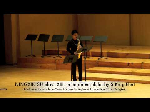 NINGXIN SU plays XIII In modo misolidio by S Karg Elert