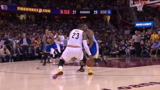 LeBron James Shakes Andre Igoudala and Hits 3 Cavs vs Warriors NBA Finals 6-9-17