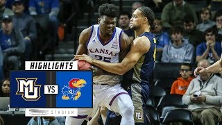 Marquette vs. No. 2 Kansas Basketball Highlights (2018-19) | Stadium