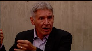 Harrison Ford's first reaction to the Millennium Falcon!