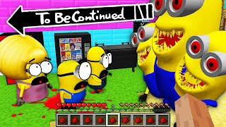 HOW MINIONS FAMILY WAS ATTACKED by SCARY MINION.EXE in Minecraft ! - Gameplay Movie Traps