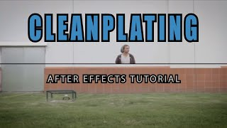 After Effects Tutorial - How To Create A Clean Plate In After Effects