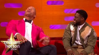 """Dwayne Johnson Asks Kevin Hart What's It Like Being 3' 2""""   The Graham Norton Show"""