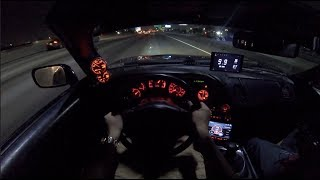 BLACK WIDOW SUPRA POV AT NIGHT!