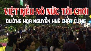 Tết Vietnam 2018 Việt Kiều về Sài Gòn ăn Tết nô nức kéo đến đường hoa Nguyễn Huệ đông như trảy hội