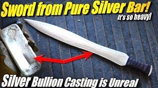 Casting a Pure Silver Sword from 999 Fine Silver Bullion