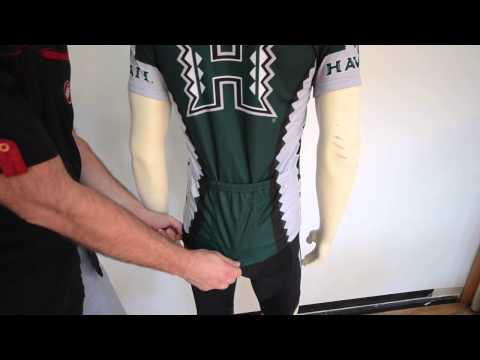 University of Hawaii Rainbows Cycling Jersey by Adrenaline Promotions