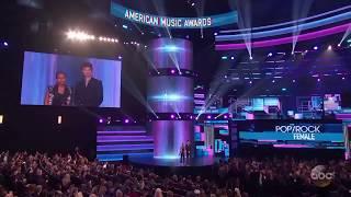Lady Gaga WINS Favorite Female Artist - Pop/Rock at the American Music Awards 2017 (AMAs 2017)