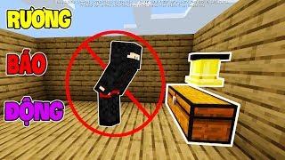 Cách Làm Rương Đồ Có Chuông Báo Động Chống Trộm Trong Minecraft PE