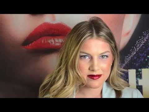 How To: Hot Red Lips Makeup Glitter  Tutorial ITAY Mineral Cosmetics  Flair Red - G14