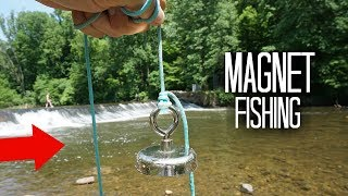Magnet Fishing a Popular Fishing Hole!! (Treasure Hunting)