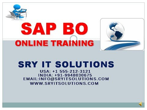 SAP BO ONLINE TRAINING | SAP BO LIVE DEMO | BO PROJECT SUPPORT | BO OVER VIEW