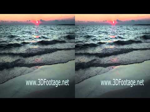 01 3D Video Sonnenuntergang am Strand von Es Trenc Mallorca / Sunset on the Es Trenc Beach