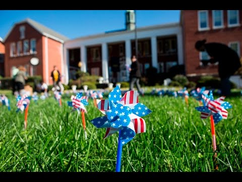 Pinwheels for Veterans on Brenau's Gainesville Historic Campus