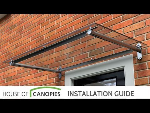 House of Canopies - Type B u0026 Type E Door Canopy Fitting & HOUSE OF CANOPIES LTD cantilever glass door canopy curved ...