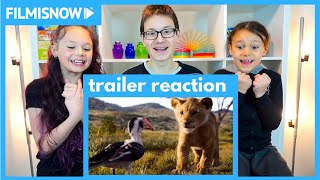 d-three KIDS React to THE LION KING 🦁 Official Trailer (2019)