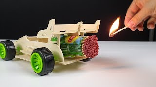 Cool Matches Powered Cardboard Race Car