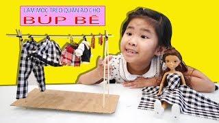 Bé Bún Làm Móc Treo Quần Áo Cho Búp Bê   How to make Cloth Hook for Doll Toys
