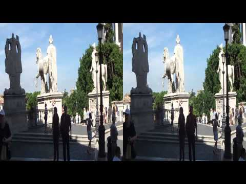 Rome - from the top of a bus. In 3D or 2D