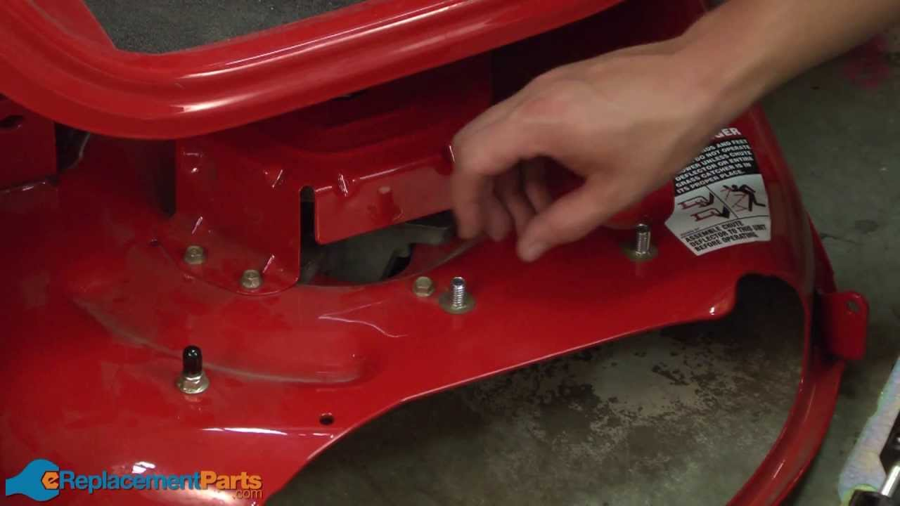 Troy Bilt Lawn Mower Parts >> How to Replace the Chute Assembly on a Troy-Bilt Pony Lawn Tractor (Part # 631-04288) - YouTube
