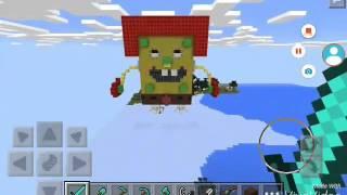 MCPE: Robo spongebob 3D pixelart
