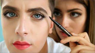 Girl Does Boy Makeup
