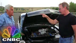 Jay Leno & Tim Allen Do Burnouts In Dodge Challenger SRT Hellcats | Jay Leno's Garage | CNBC Prime