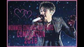 Seventeen Wonwoo Singing/Rap Parts Compilaton 2018