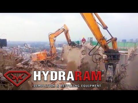 Hydraram HCC-13V & HCC-17V Concrete cutters / processors